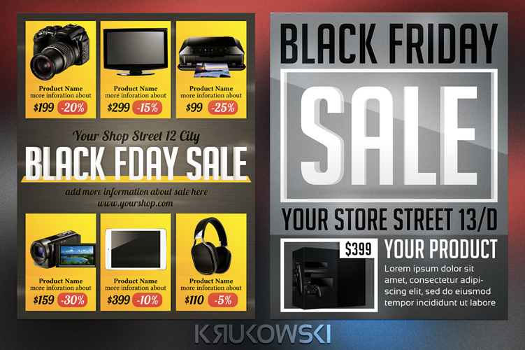 Black Friday Sale Flyers Template Bundle