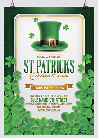St. Patricks Day Flyer PSD