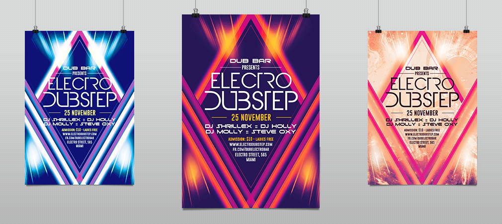 Alternative Electro Minimal Party Flyer