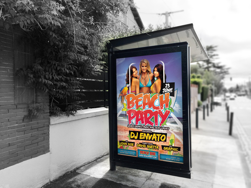 Summer Beach & Pool Party Flyer