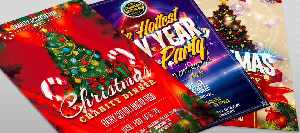 Christmas and New Year Party Flyers #2