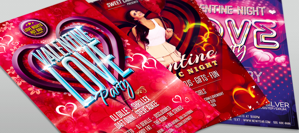Best Club Flyer Templates for Valentines Day