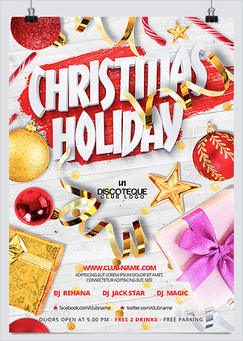 christmas holiday party flyer