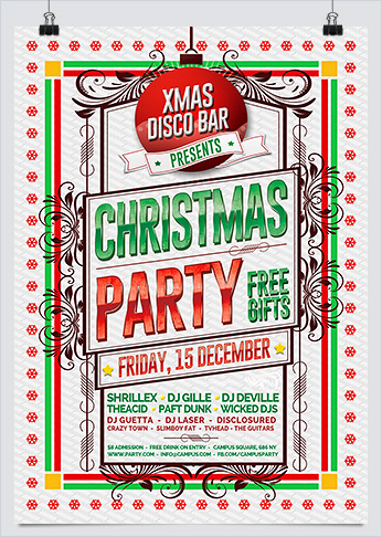Christmas Parade Party Flyer