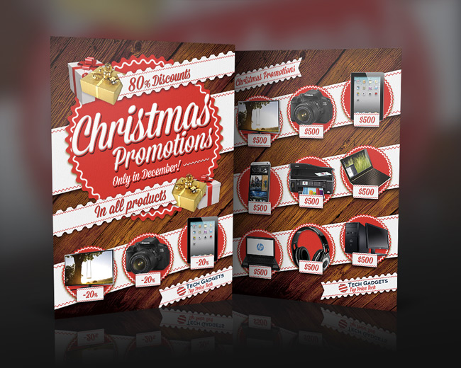 Christmas Promotions Commerce Flyer