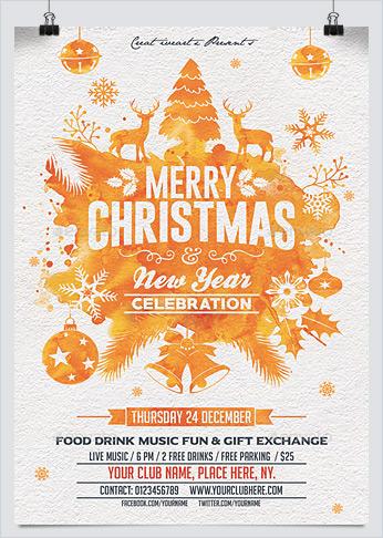 Printable Christmas Party Flyer