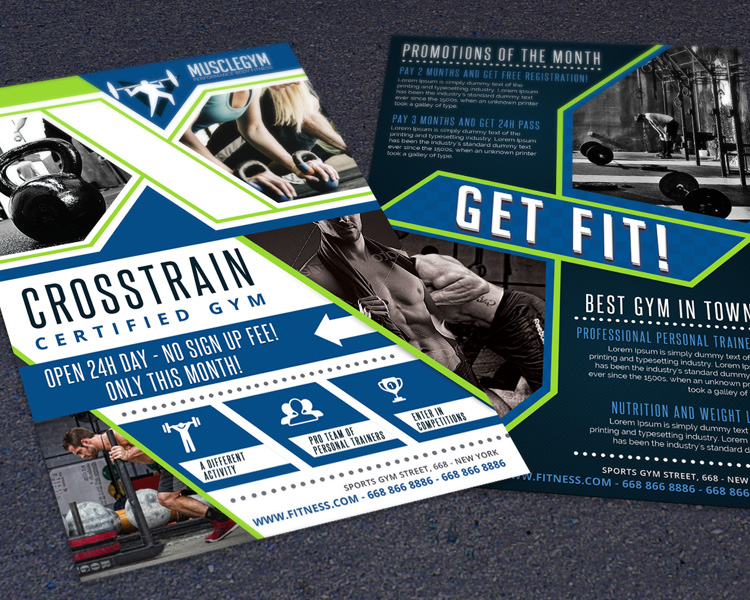 best fitness business flyers for gym marketing