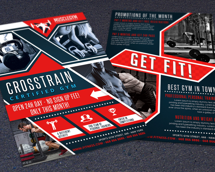 Crossfit Train Gym Promotion Flyer