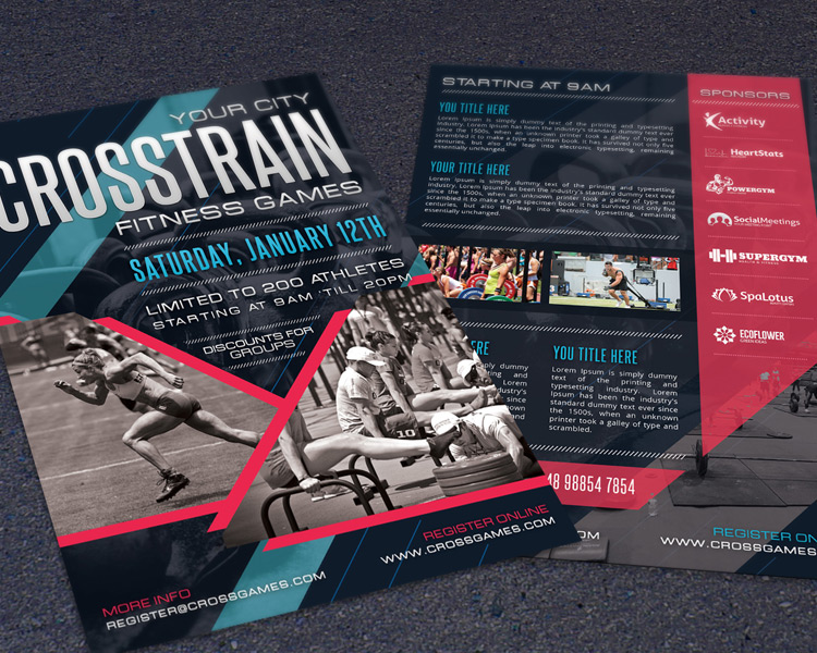 Crossfit Fitness Gym Promotion Flyer Hollymolly