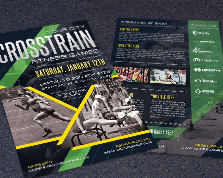 Crossfit Fitness Gym Promotion Flyer Template