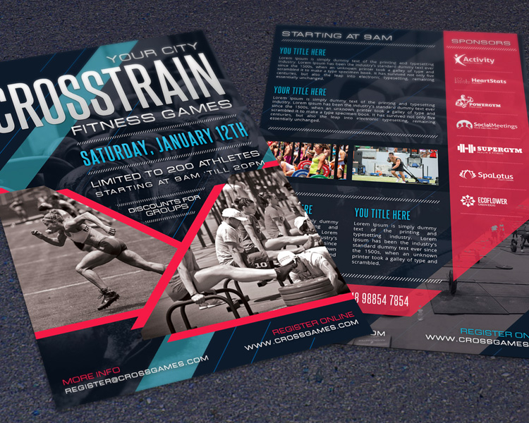 Crossfit Fitness Gym Promotion Flyer