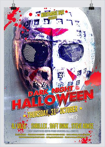 Dark Halloween Night Party Flyer