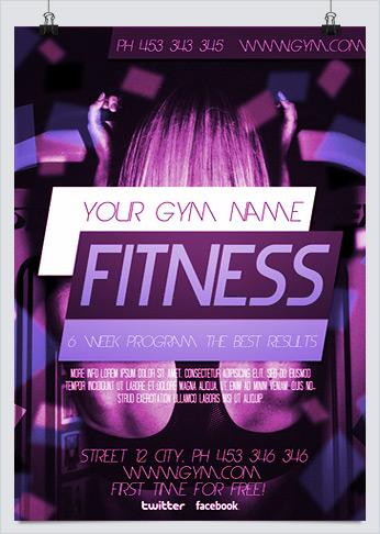 Crosstrain Fitness Gym Promotion Flyer