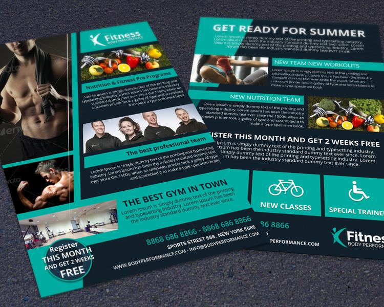 Fitness, Gym & Body Performance Flyer