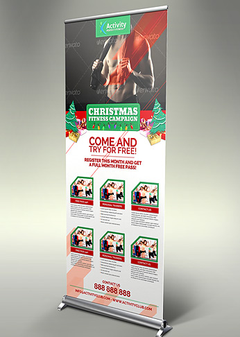 Fitness & Gym Christmas Promotions Pack