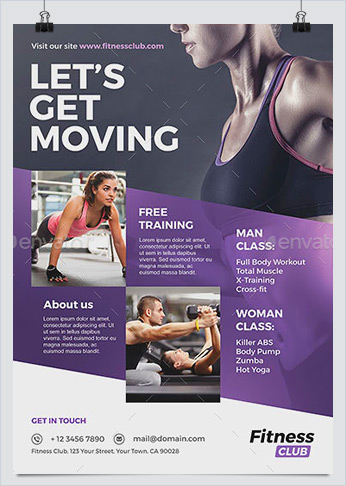 Fitness / Gym Flyer Template  Free Fitness Flyer Templates
