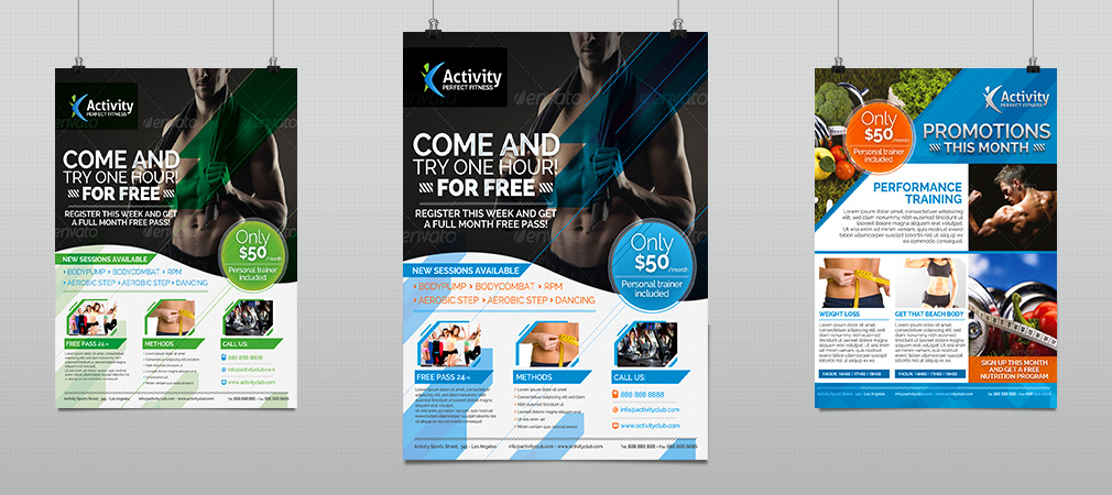 Fitness & Gym – Sports Business Flyer