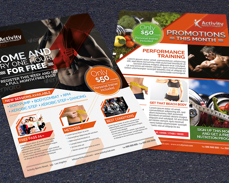 Fitness & Gym - Sports Business Photoshop Flyer Template
