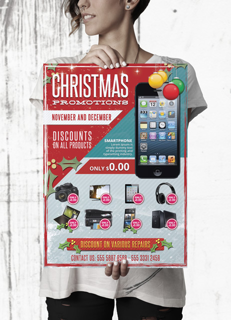 Free Christmas Business Promotions Flyer