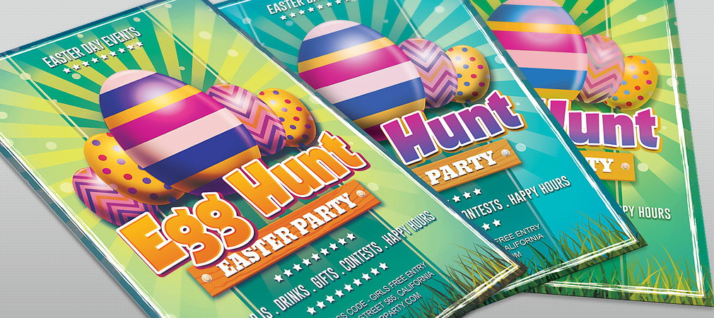Free Easter Day Egg Hunt Flyer