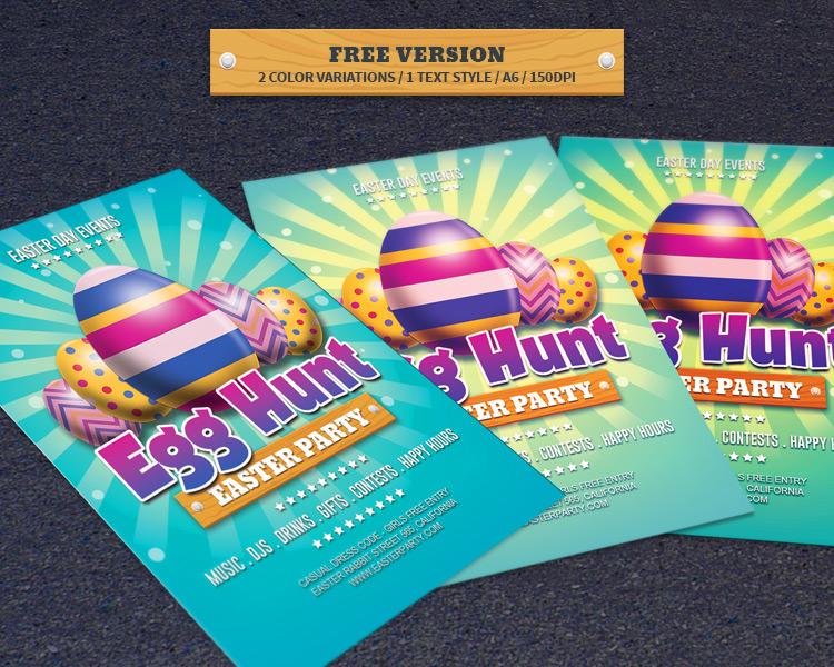 Free Easter Day Egg Hunt Flyer
