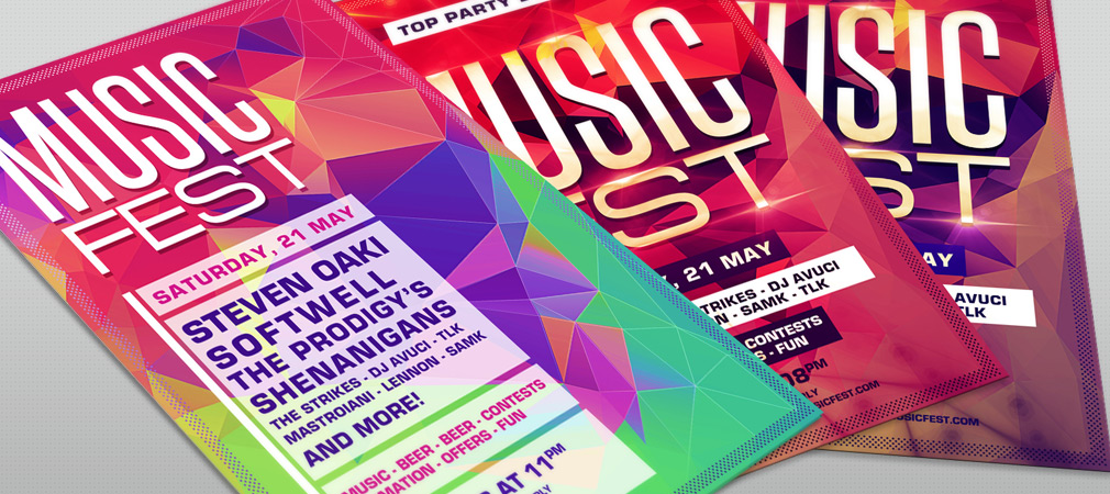 Free Music Festival Party Flyer Template
