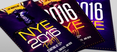 printable free new year dj party flyer