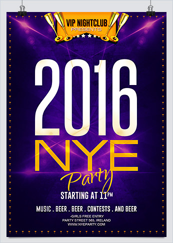 Printable Free New year Eve Party Flyer