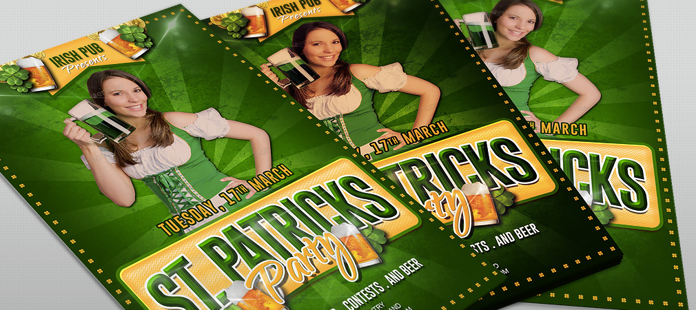 Free St. Patricks Party Flyer
