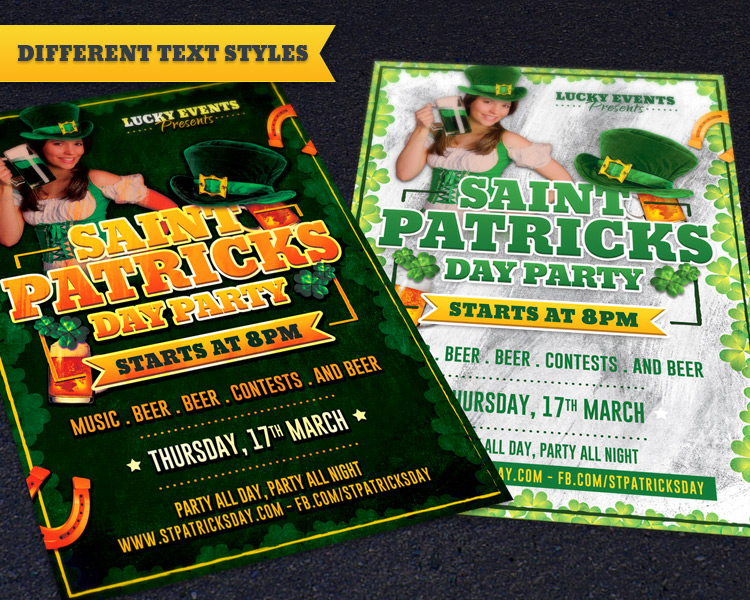 Free St. Patricks Day Party Flyer