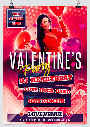 Free Valentine Day Party Flyer Template