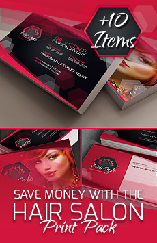 Hair Salon Corporate Identity Pack