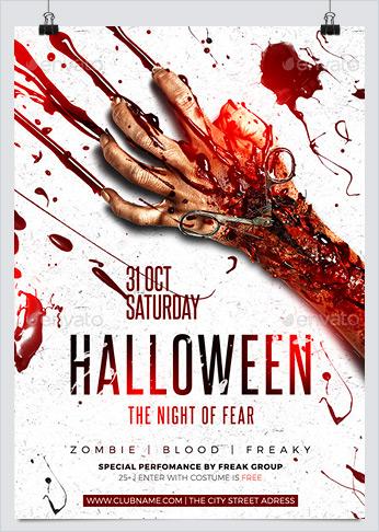 Halloween Fear Night Flyer