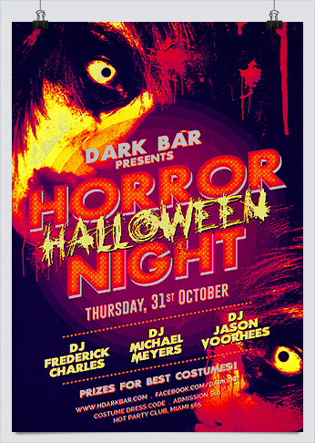 Halloween Horror Night Party Flyer