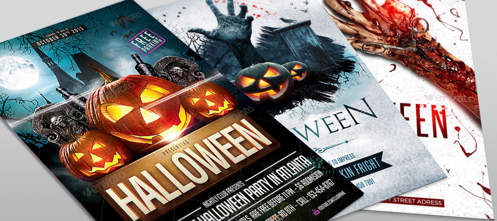 halloween party flyer collection