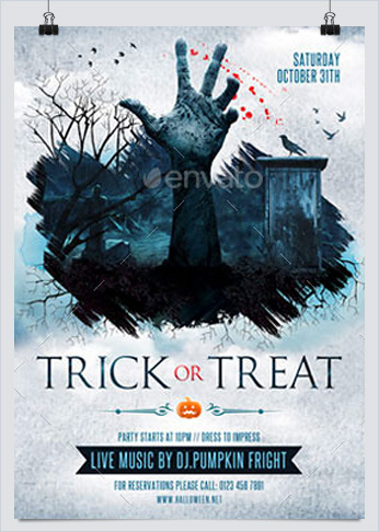 Halloween and Trick or Treat Flyer Template