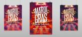 Mardi Gras Crazy Circus Party Flyer Template