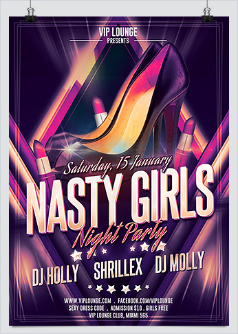 Nasty Girls Night Out Party Flyer