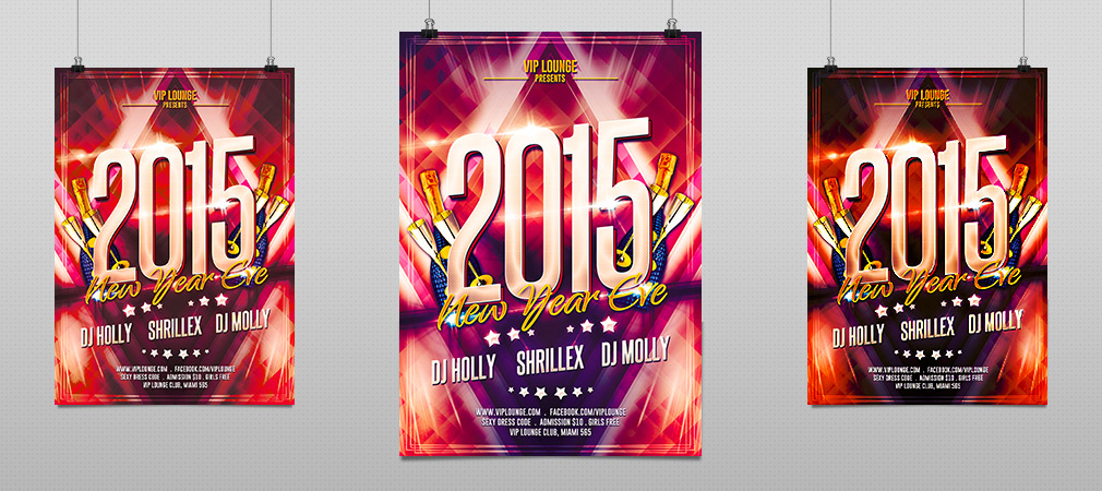 New Year Eve Party Flyer  Hollymolly