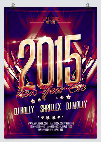 New Year Eve Bash Party Flyer Template