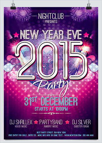 Printable New Year Eve Party Flyer