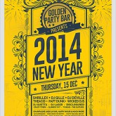 New Year Golden Party Flyer