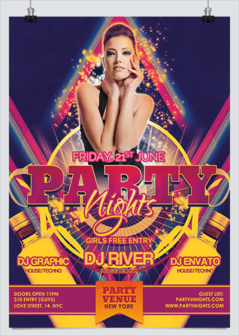 Party Nights Dance Flyer Template