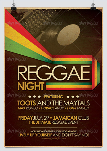 Reggae Poster and Flyer