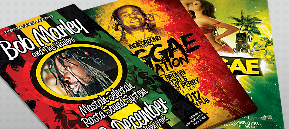 Reggae Music Party Flyer Collection #1