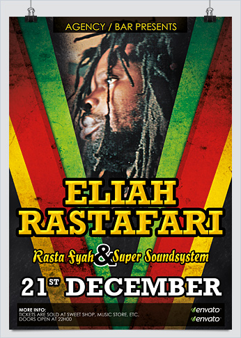 Reggae Jamaican Party Flyer Template