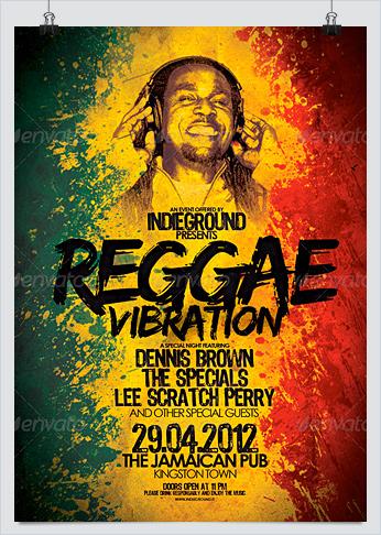 Reggae Music Party Flyers