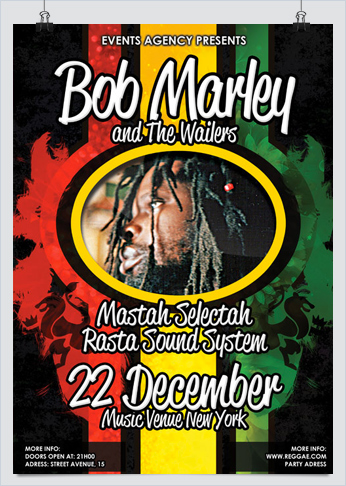Reggae Rasta Party Flyer
