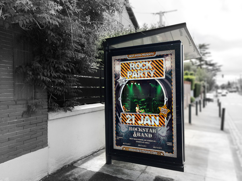 Rock and HipHop Flyer Template