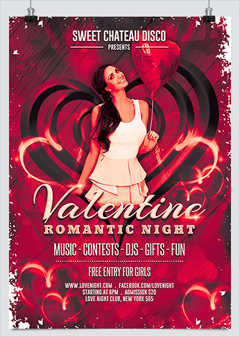 Romantic Valentine Night Party Flyer